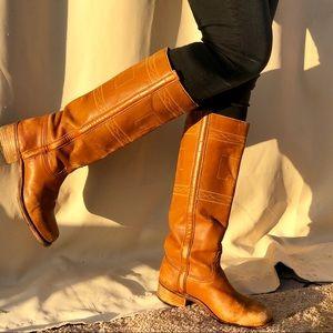 Durango West vintage campus tall boots cowboy 7